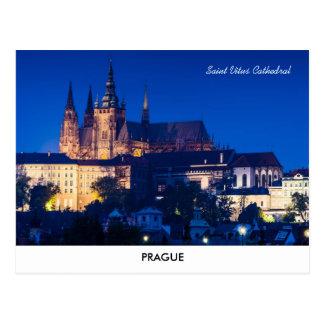 Het Briefkaart van het Kasteel van Praag