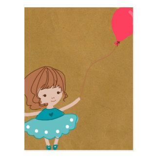 Het Briefkaart van het Meisje van de impuls van