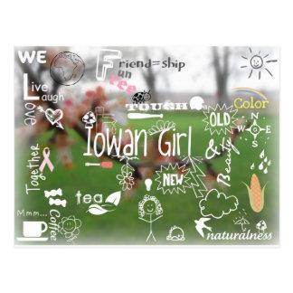 Het Briefkaart van het Meisje van Iowan