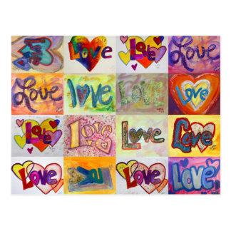 Het Briefkaart van het Mozaïek van de Liefde XOXO
