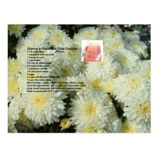 Het Briefkaart van het Recept van de Koekjes van