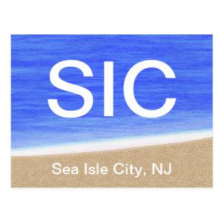 Het Briefkaart van het Strand van de Stad NJ van