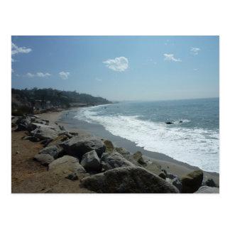 Het Briefkaart van het Strand van Malibu
