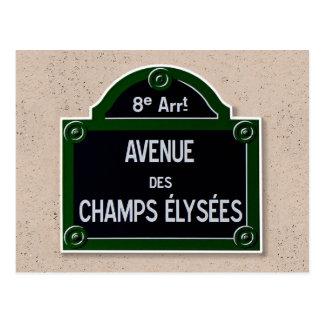 Het Briefkaart van het Teken van Elysee van Champs