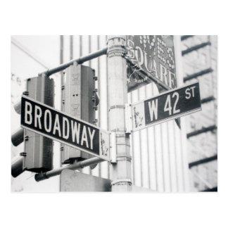 Het Briefkaart van het Times Square van Broadway