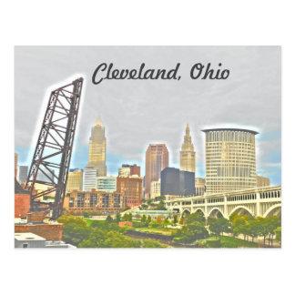 Het Briefkaart van het Uitzicht van Cleveland Ohio