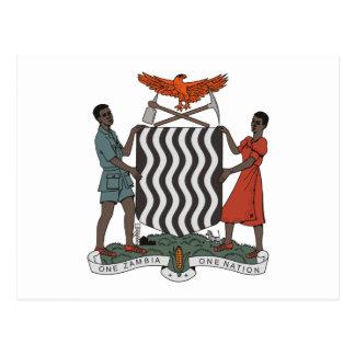 Het Briefkaart van het Wapenschild van Zambia