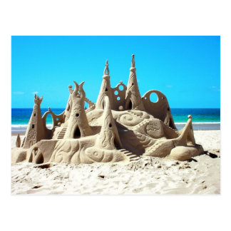 Het Briefkaart van het Zandkasteel van het Strand