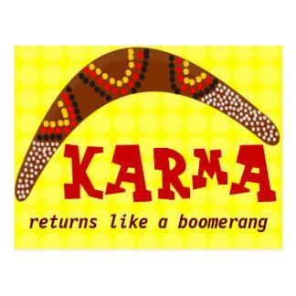 Het briefkaart van Karma