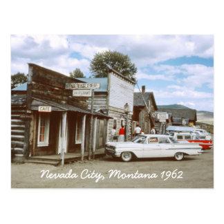 Het Briefkaart van Montana van de Stad van Nevada