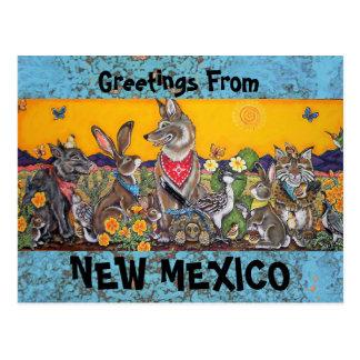 Het Briefkaart van New Mexico met de Dieren van