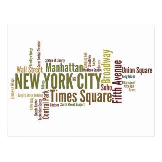 Het briefkaart van new york wens kaart