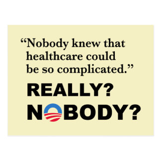 Het Briefkaart van Obamacare van de anti-troef