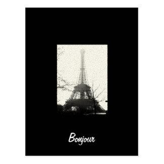 Het Briefkaart van Parijs van Bonjour
