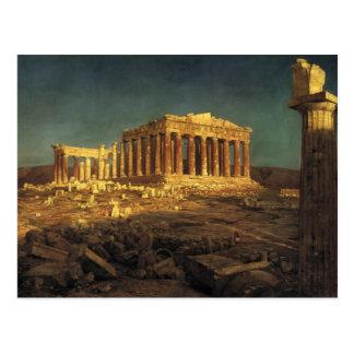 """Het briefkaart van """"Parthenon"""" van de kerk"""