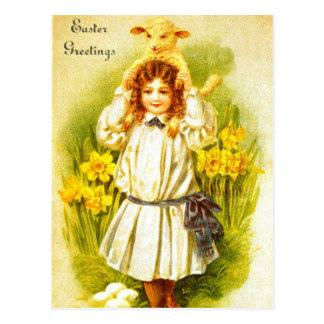 Het Briefkaart van Pasen met het Zoete Victoriaans
