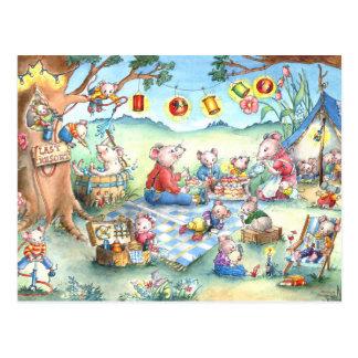 Het Briefkaart van Picknick van muizen