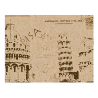 Het briefkaart van Pisa