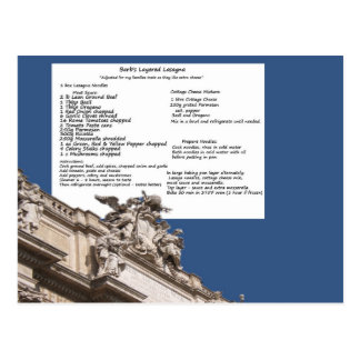 Het Briefkaart van Rome van de Lasagna's van de