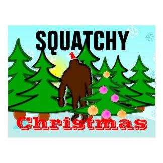 Het Briefkaart van Squatch van Kerstmis van