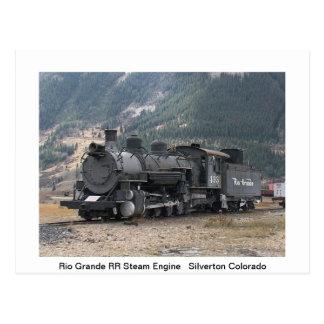 Het Briefkaart van treinen