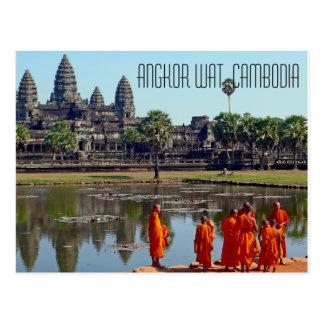 Het Briefkaart van Wat Kambodja van Angkor