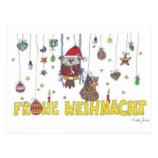 Het briefkaart van Weihnacht van Frohe door Nicole