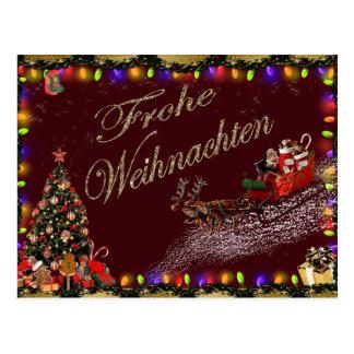 Het Briefkaart van Weihnachten van Frohe