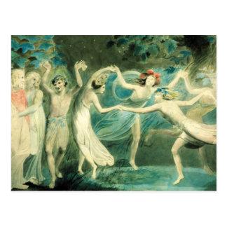 Het Briefkaart van William Blake Midsummer Night's