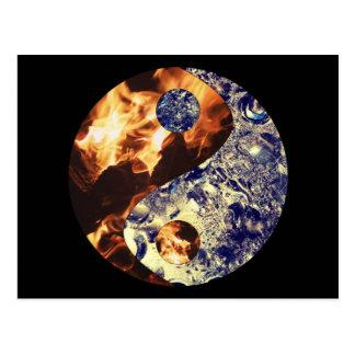 Het Briefkaart van Yin Yang van de brand & van het