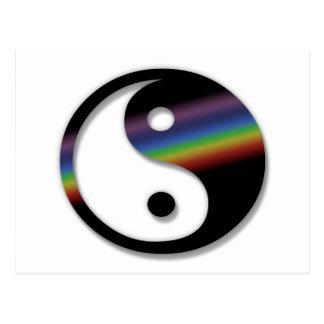 Het Briefkaart van Yin Yang van de regenboog