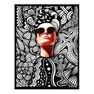 Het Briefkaart van Zentangle van de mode Wens Kaart