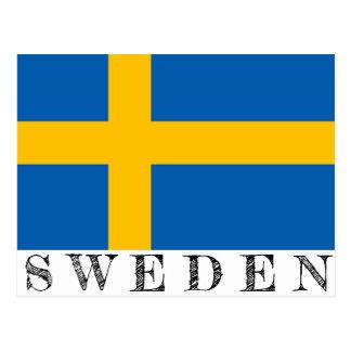 Het briefkaart van Zweden