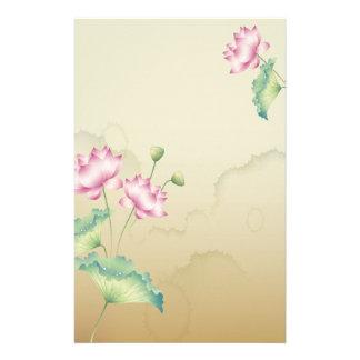 Het Briefpapier van de Bloemen van Lotus