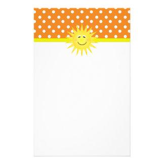 Het Briefpapier van de stip & van de Zonneschijn