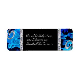 Het briljante Blauwe Huwelijk van Rozen & van de Etiket