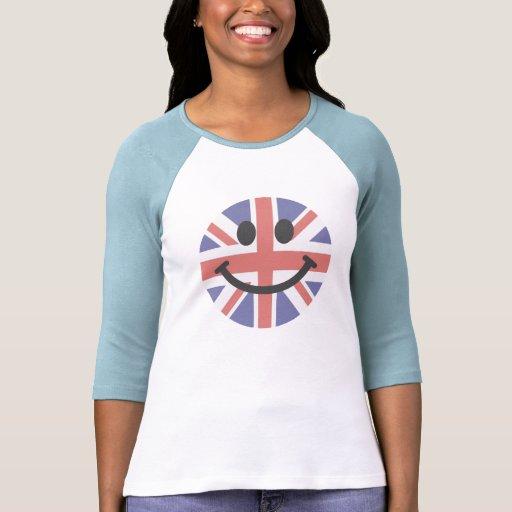 Het Britse gezicht van Smiley van de Vlag Shirt