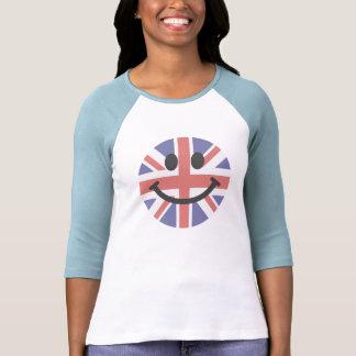 Het Britse gezicht van Smiley van de Vlag Tshirts