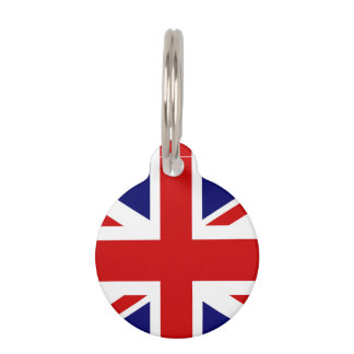 Het Britse label van het de vlaghuisdier van Union Huisdierpenning