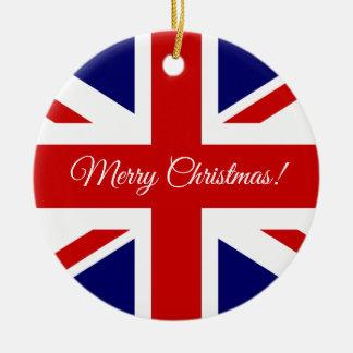 Het Britse ornament van de de vlagKerstboom van
