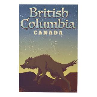 Het Britse poster van de Wolf van Colombia Canada
