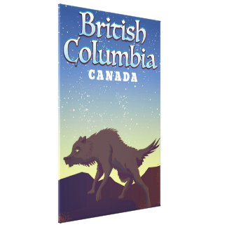 Het Britse poster van de Wolf van Colombia Canada Canvas Afdruk