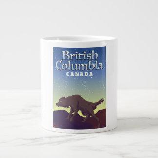 Het Britse poster van de Wolf van Colombia Canada Grote Koffiekop