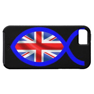 Het Britse Symbool van de Vissen van de Vlag Tough iPhone 5 Hoesje