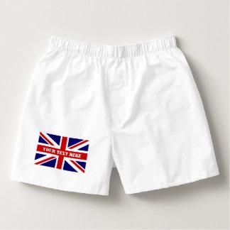 Het Britse van de de vlag mannen bokser van Union