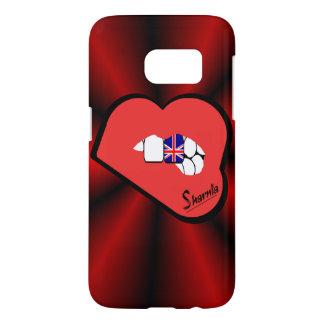 Het Britse van de Lippen van Sharnia Mobiele Samsung Galaxy S7 Hoesje