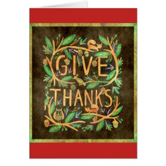 """Het Brokaat van de Zegen """"geef van het Bedankt"""" Briefkaarten 0"""