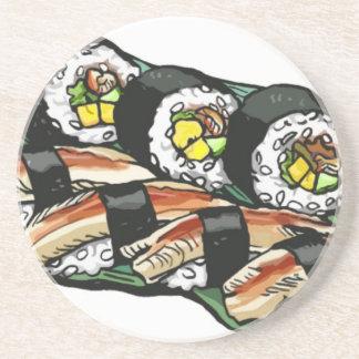 Het Broodje van sushi Zandsteen Onderzetter