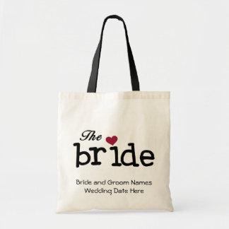 Het bruid Aangepaste Canvas tas