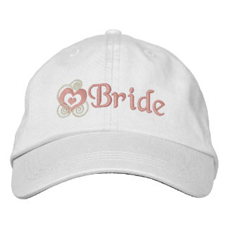 Het Bruids Borduurwerk van de bruid geborduurde petten